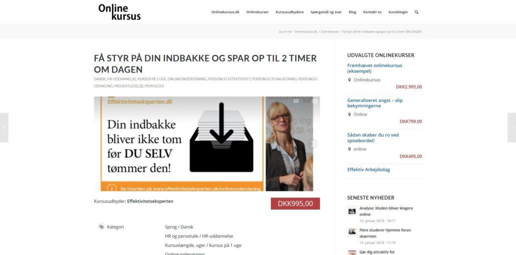 Få styr på din indbakke - Spar op til 2 timer om dagen - Online-kursus.dk